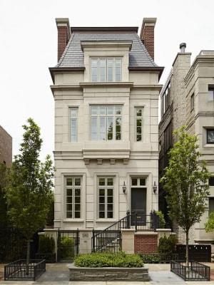 Mẫu nhà phố 4 tầng kiến trúc kiểu Pháp nổi bật