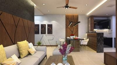 2 mẫu thiết kế nội thất phòng khách biệt thự hiện đại tuyệt đẹp năm 2018