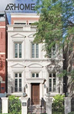 Đẳng cấp trong mẫu nhà phố 3 tầng phong cách cổ điển