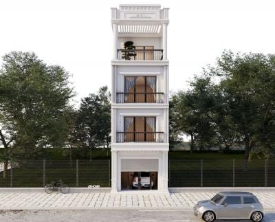 Thiết kế Nhà phố hiện đại 4 tầng 50m2 của Anh Tuấn ở Hà Đông