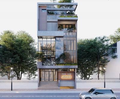 Tuyệt đẹp với thiết kế nhà phố kết hợp kinh doanh 100m2 của Anh Dũng Cầu Giấy, HN