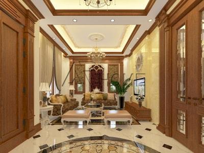 Mẫu thiết kế nội thất phòng khách biệt thự tuyệt đẹp