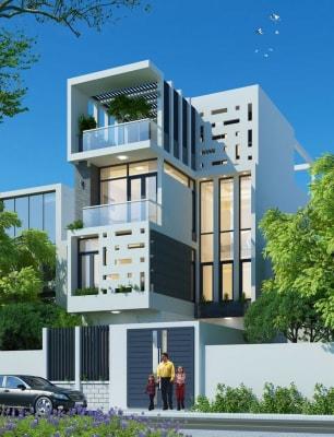 Thu hút với mẫu nhà phố 4 tầng 4x16m hiện đại