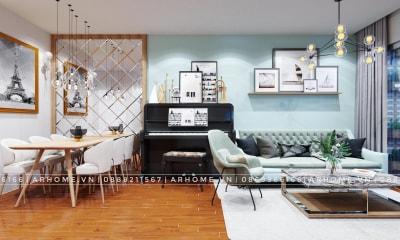 Thiết kế nội thất tông xanh cho gia chủ mệnh mộc