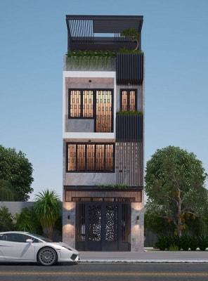 Thiết kế nhà phố đẹp diện tích 4m x 18m ánh sáng và gió ngập tràn mọi căn phòng