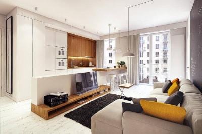 Chiêm ngưỡng mẫu thiết kế nội thất căn hộ 50m2 rộng rãi, thoáng đãng