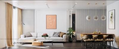 Mẫu thiết kế nội thất chung cư 3PN 98m2 tươi mới và khoẻ khoắn của chị Thương