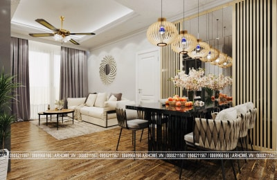 Mạnh mẽ đầy cá tính với Thiết kế nội thất căn hộ chung cư 11G2 Sunshine Garden