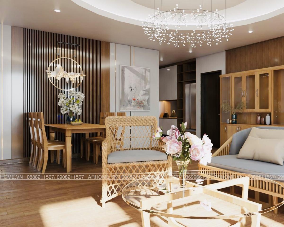 Ấn tượng khó phai với Thiết kế nội thất căn hộ Chung cư Lạc Hồng West Lake của Cô Họa sĩ