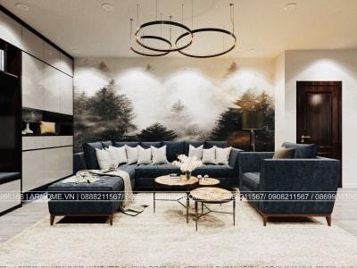 Thiết kế nội thất căn hộ chung cư Eurowindow màu nâu đen, Chất men của sang trọng, mạnh mẽ