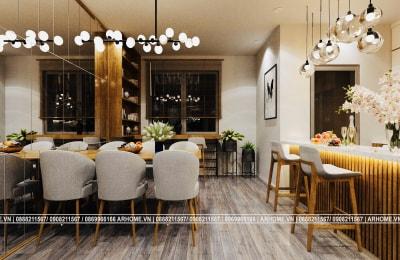Tuyệt tác của vàng nâu trong Thiết kế nội thất căn hộ EuroWindow 1 Phòng ngủ