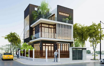 Một số mẫu nhà có gác lửng đẹp 3 tầng được ưa chuộng