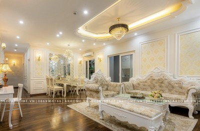 TIN ĐƯỢC KHÔNG? Thi công nội thất căn hộ Vinhomes 4 PN Tân cổ điển chỉ với 250 triệu!