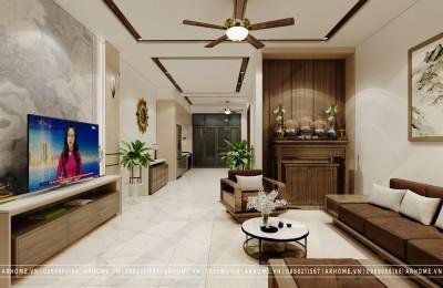 Hài hoà trong thiết kế nội thất nhà phố hiện đại của chị Thiện