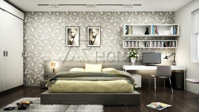 Mẫu thiết kế nội thất phòng ngủ chung cư tiện dụng của kiến trúc sư Arhome