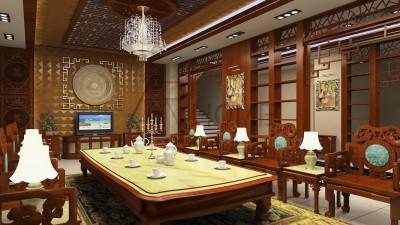 Top 3 mẫu thiết kế nội thất phòng khách tân cổ bằng gỗ tự nhiên được yêu thích