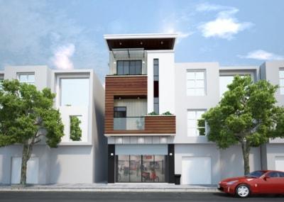 Mẫu nhà phố 3 tầng mặt tiền 5m tân cổ điển đẹp hút hồn