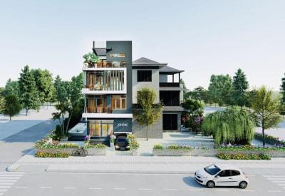 Đẹp hiện đại với thiết kế biệt thự 4 tầng có bể bơi ở Nam Định