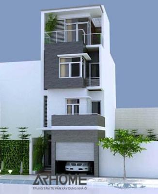 Hút mắt với mẫu nhà phố 3 tầng mặt tiền 5m tuyệt đẹp