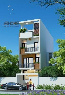 Những mẫu nhà phố 4 tầng 4x20m hiện đại nhất