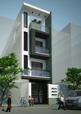 Mẫu nhà phố 3 tầng mặt tiền 6.5m có 3 phòng ngủ hiện đại