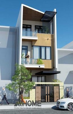 Mẫu nhà phố 3 tầng mặt tiền 4.5m hiện đại