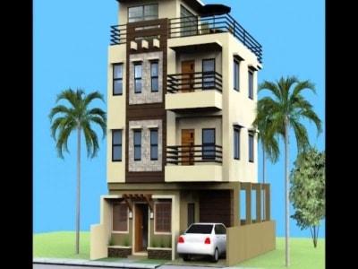 Mẫu nhà phố 3 tầng mặt tiền 5m diện tích 70m2 đẹp mê ly