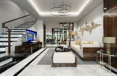 Thiết kế nội thất hiện đại cho nhà liền kề dự án Happy Land Đông Anh