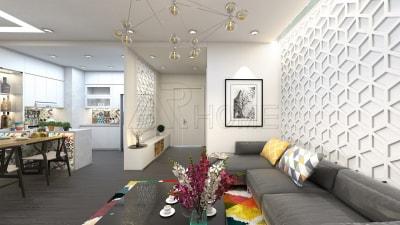Thể hiện cá tính từ mẫu thiết kế nội thất phòng khách cho chung cư
