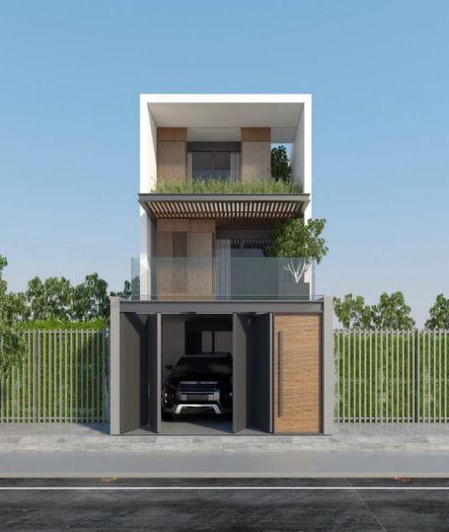 Bắt mắt với mẫu nhà phố 2 tầng mái thái mặt tiền 5m