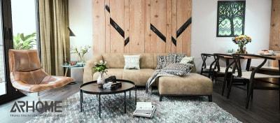 Cuốn hút với 2 mẫu thiết kế nội thất phòng khách liền bếp chung cư tuyệt đẹp của Arhome