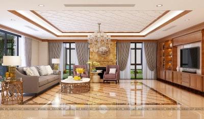 Thiết kế nội thất căn hộ Penthouse dự án Tecco Complex  đẳng cấp, sang trọng (Phần 1)