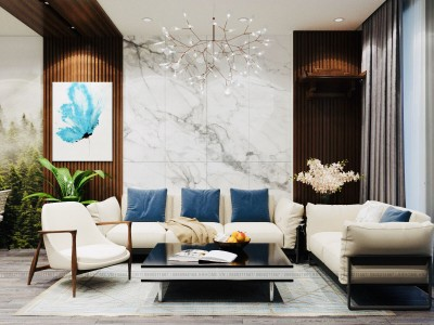 Đẹp xuất sắc với thiết kế nội thất căn hộ 3 phòng ngủ Iris Garden toà CT1A, CT1B