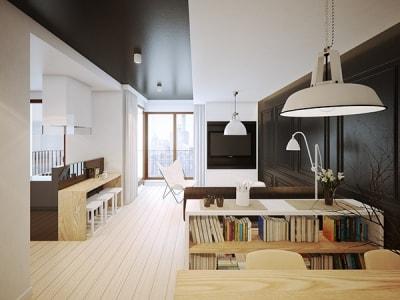 Thiết kế nội thất căn hộ chung cư tối giản nhưng tiện nghi và hiện đại