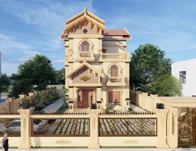 Ngất ngây với Mẫu Thiết kế biệt thự Tân cổ điển đẹp lộng lẫy