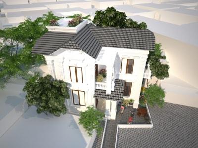 Chiêm ngưỡng mẫu thiết kế biệt thự 3 tầng độc đáo, hiện đại với mặt tiền 8m