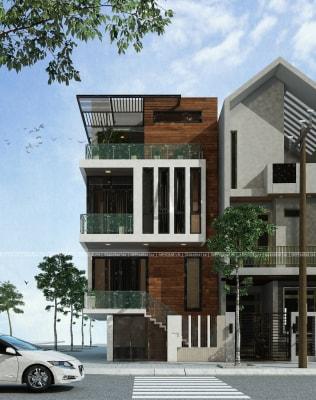Gợi ý thiết kế nhà phố 4 tầng 4x20m hiện đại