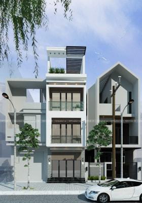 Những mẫu thiết kế nhà phố 3-4 tầng mái bằng phong cách hiện đại