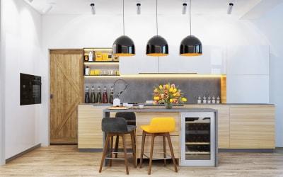 Những ví dụ về ánh sáng khi thiết kế nội thất nhà bếp hiện đại, sáng tạo