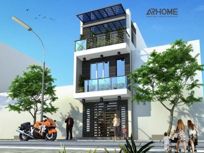 Độc đáo với mẫu nhà phố 3 tầng mặt tiền 3,5m
