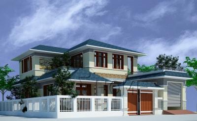 Tuyệt đẹp với mẫu thiết kế biệt thự hiện đại 2 tầng đẳng cấp của anh Mẽo, Hà Nội