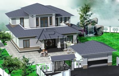 Ngắm vẻ đẹp tươi trẻ trong mẫu thiết kế biệt thự nhà vườn của anh Lợi, Hà Giang