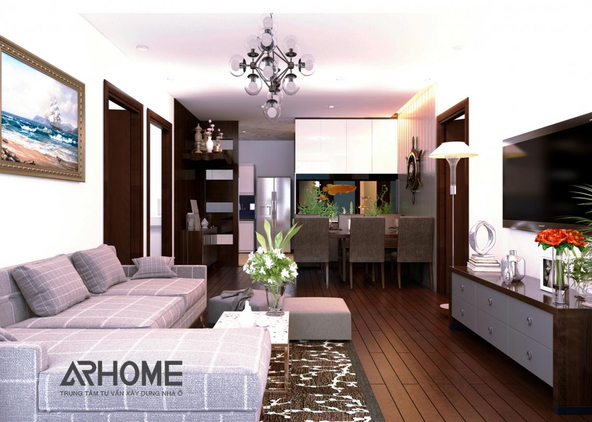 Cách thiết kế nội thất phòng khách chung cư 20m2 tuyệt đẹp 2018