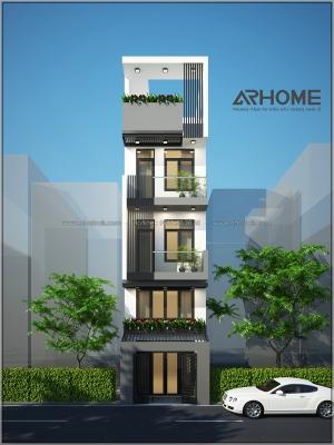 Xu hướng thiết kế nhà phố 4 tầng 5x20m đẹp nhất 2018