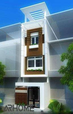 Độc đáo với mẫu nhà phố 3 tầng 5x16m có 3 phòng ngủ