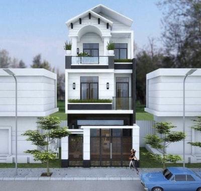 Cực ấn tượng với Thiết kế Nhà phố 3 tầng mặt tiền 6mx18