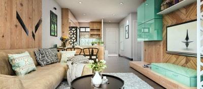Những gợi ý nhỏ cho thiết kế nội thất phòng khách 12m2 tuyệt đẹp