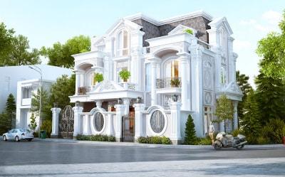 Mẫu thiết kế biệt thự 2 tầng phong cách tân cổ điển diện tích 272m2