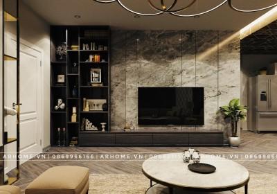 Độc đáo với 2 mẫu thiết kế nội thất phòng khách tối màu cho gia chủ mệnh Kim