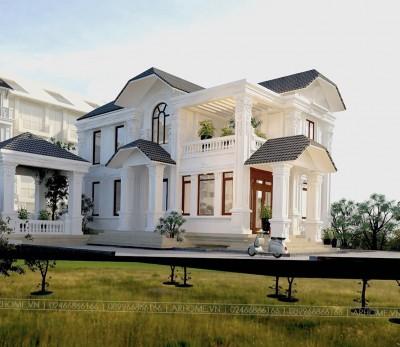 Chiêm ngưỡng 3 mẫu thiết kế biệt thự 2 tầng tân cổ điển sơn trắng được yêu thích